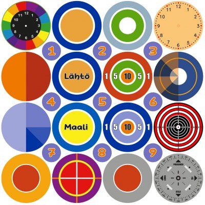Leiki-ja-liiku-teippilajitelma_suurkuva-teipit-tarrat-opetus-leikki-kellotaulu-sektorit-tikkataulu-maalitaulu-ilmansuunnat-paivakoti-pelit-3