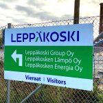Opasteprojekti Leppäkoski Groupin Nokian laitokselle